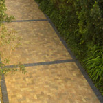 Wheatstone Paver with Charcoal cobble border