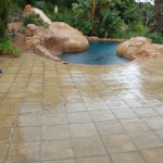 Simulated Stone Pool Paving Project