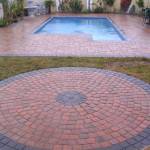 Stylish Simulated Stone Pool Paving