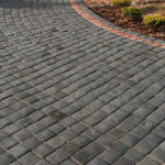 Charcoal Cobble with Sandstone cobble border