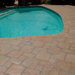 Simulated Stone paving around the pool