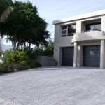 Driveway Paved with Simulated Stone