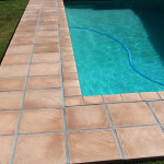 Pool patio Pave with Simulated Stone