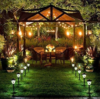 2014 garden trends this holiday season brick paving south africa crystal lanterns outdoor chandeliers aloadofball Images