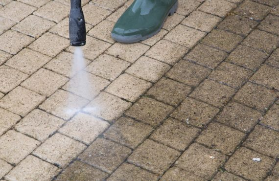 High Pressure Paving Cleaning