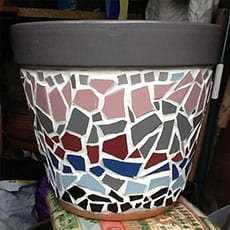Mosaic pot plant