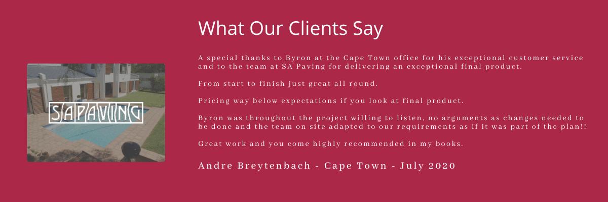 SA Paving Testimonial
